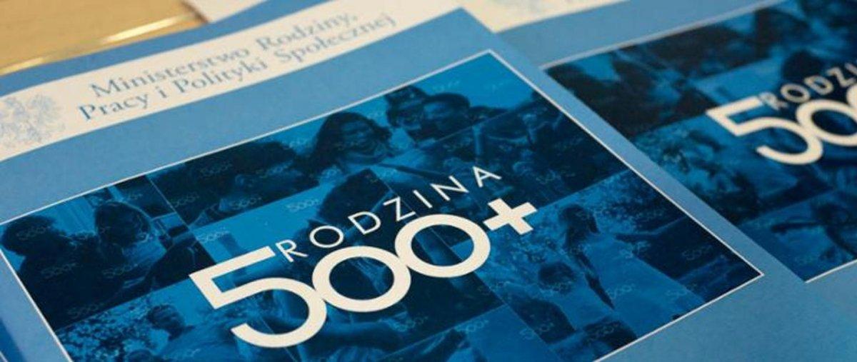 Grafika promująca rządowy program Rodzina 500 plus fot. gov.pl