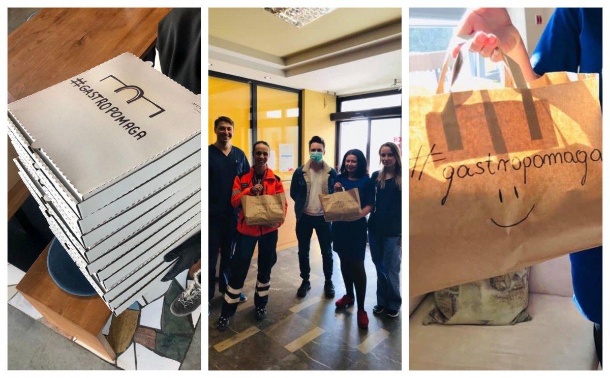 #gastropomaga, czyli akcja dostarczania posiłków dla dyżurujących medyków, fot. facebook.com/muszlagdynia, Szpitale Pomorskie / Facebook