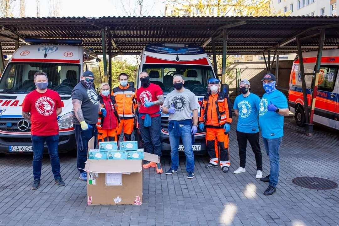 Wsparcie od firmy Pitbull Promotion // fot, materiały Miejskiej Stacji Pogotowia Ratunkowego w Gdyni