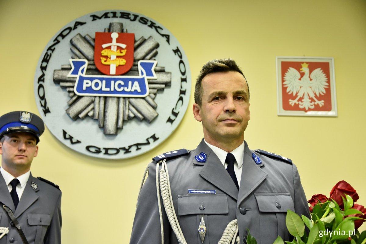 mł. insp. Sławomir Pachura - nowy Komendant Miejski Policji w Gdyni // fot. Marcin Mielewski