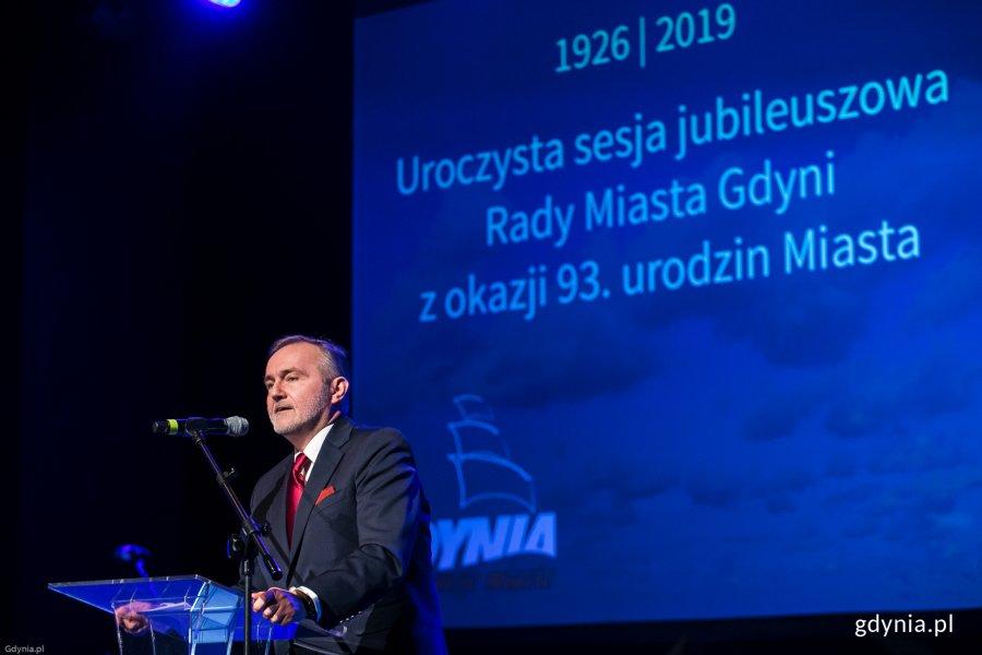 Uroczysta sesja Rady Miasta Gdyni z okazji 93. rocznicy nadania praw miejskich, fot. Karol Stańczak