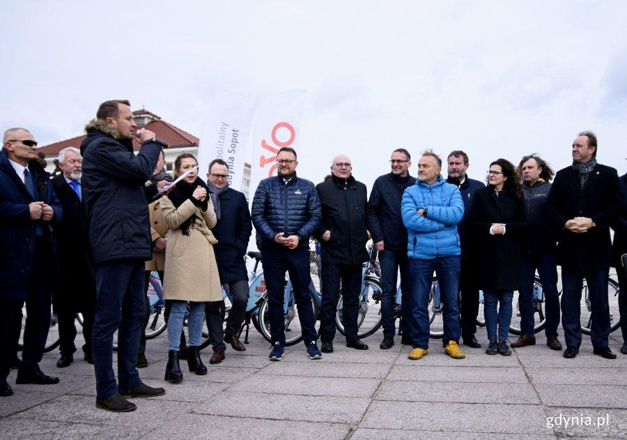 Inauguracja systemu roweru metropolitalnego MEVO w Sopocie, fot. Kamil Złoch