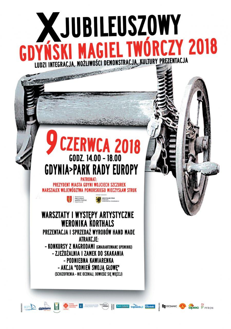 """Plakat """"Gdyński Magiel Twórczy"""""""