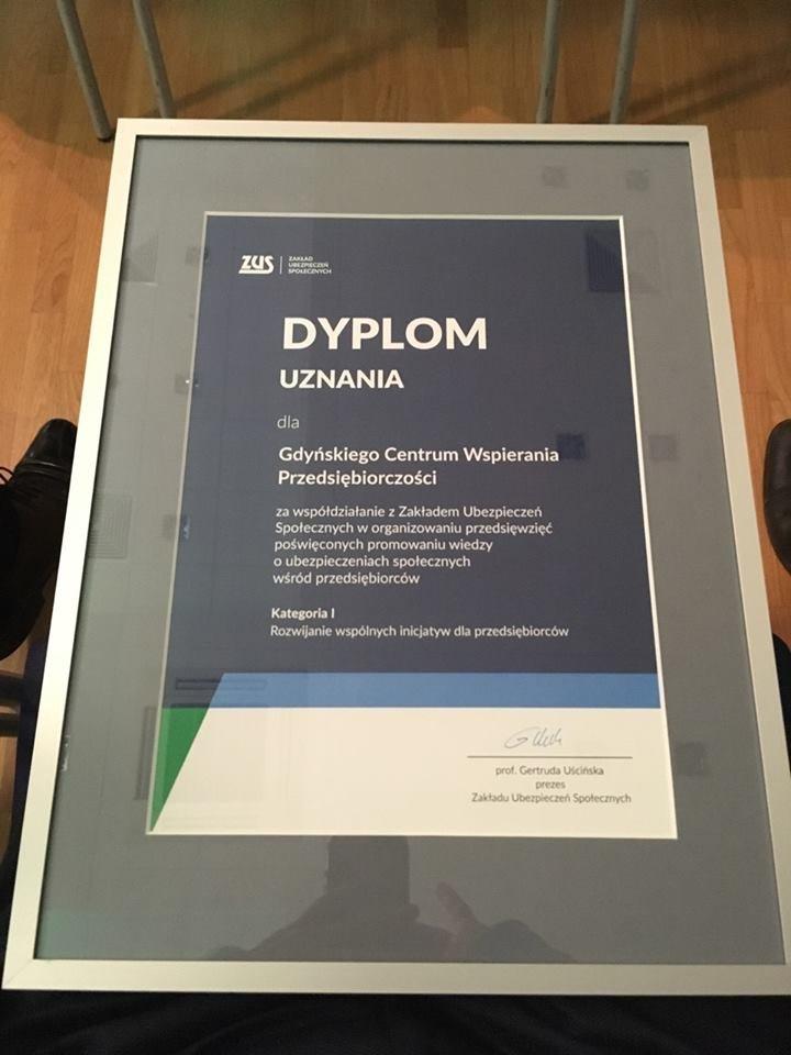 Gdynia doceniona za nowatorskie wspieranie przedsiębiorców // fot.mat.prasowe
