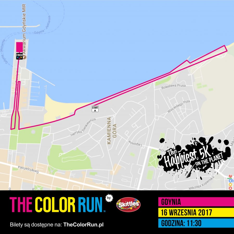 The Color Run - trasa biegu // mat.prasowe