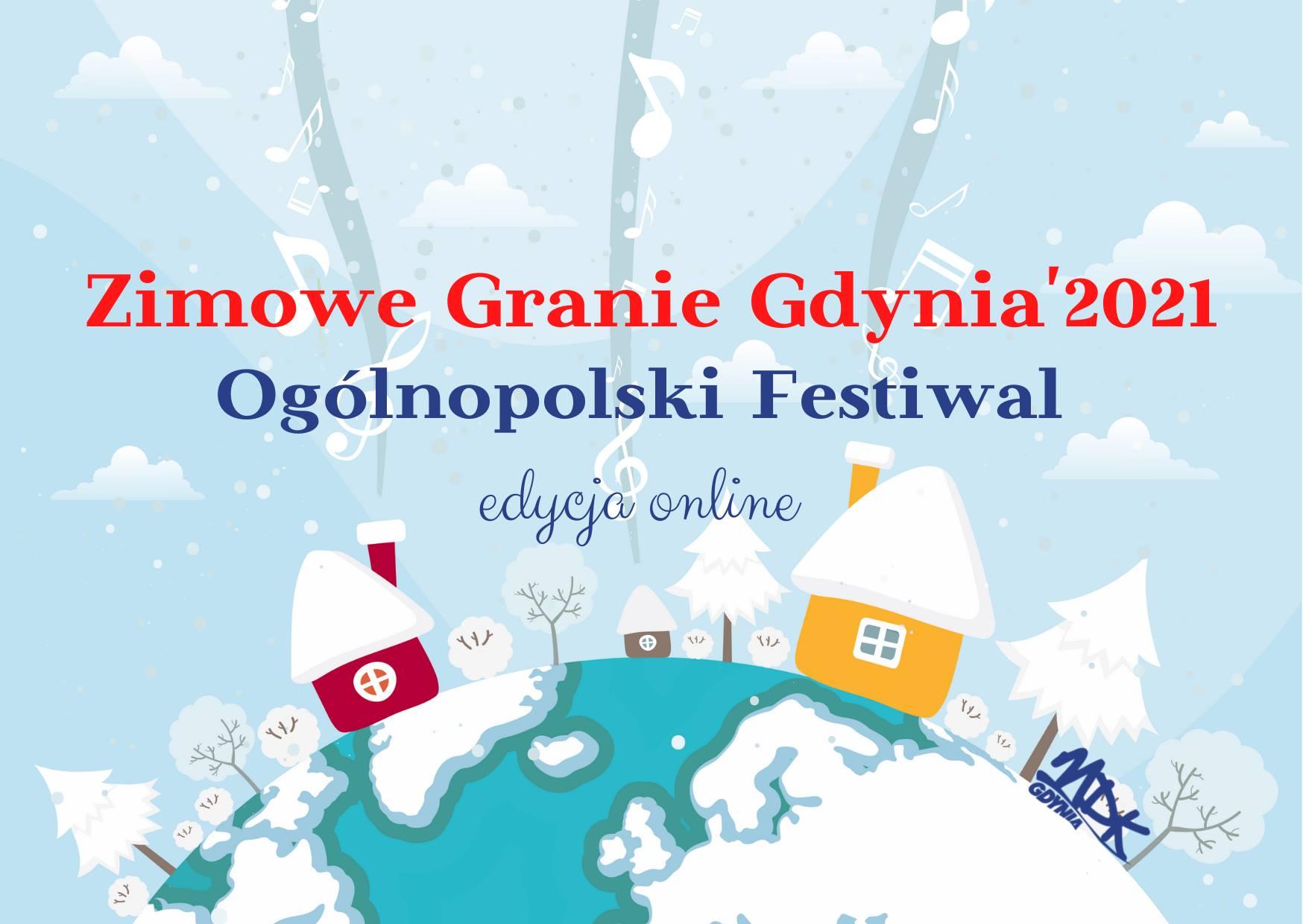 Plakat wydarzenia: Zimowe Granie Gdynia 2021, mat. prasowe