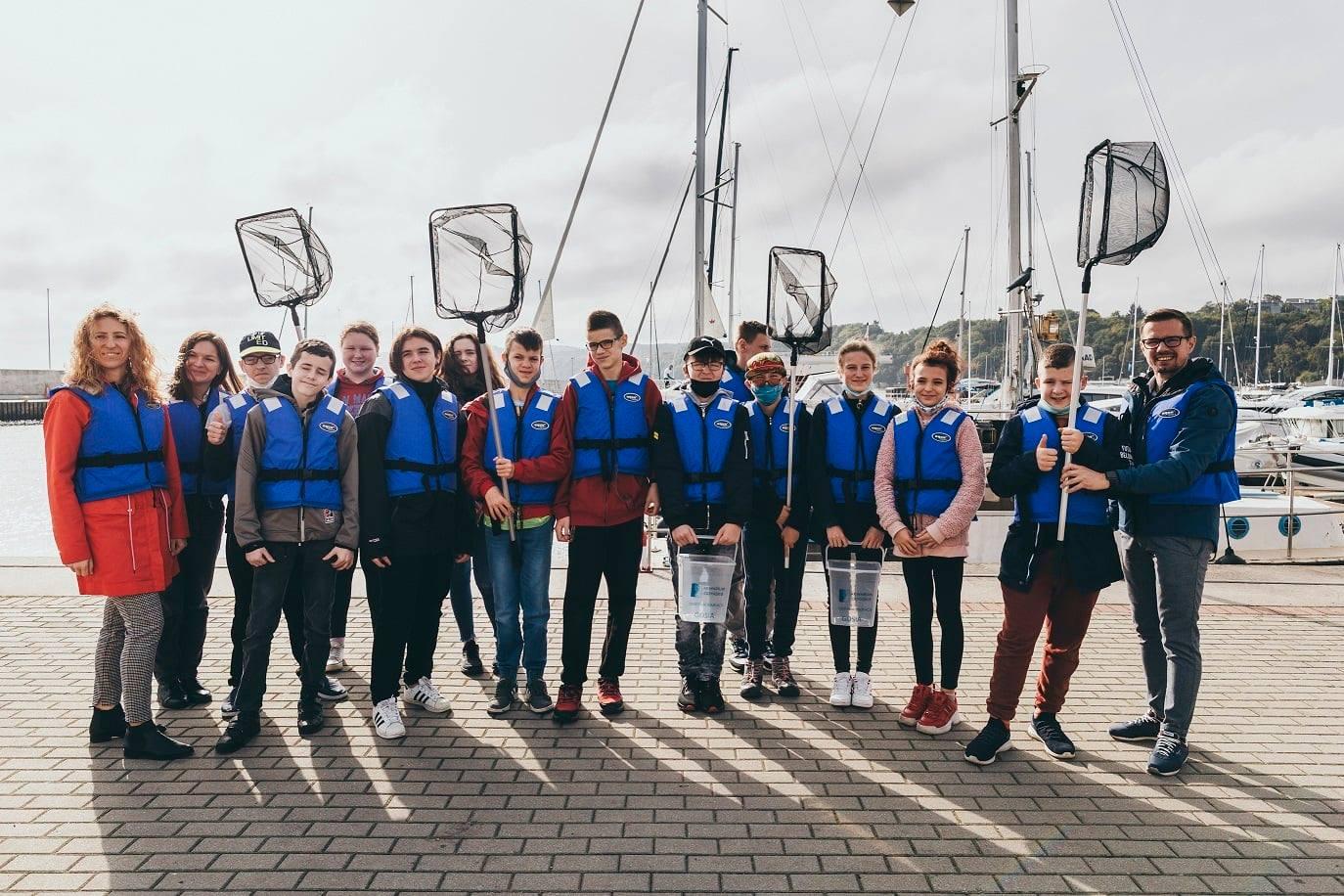 Uczestnicy projektu edukacyjnego, fot. Akwarium Gdyńskie