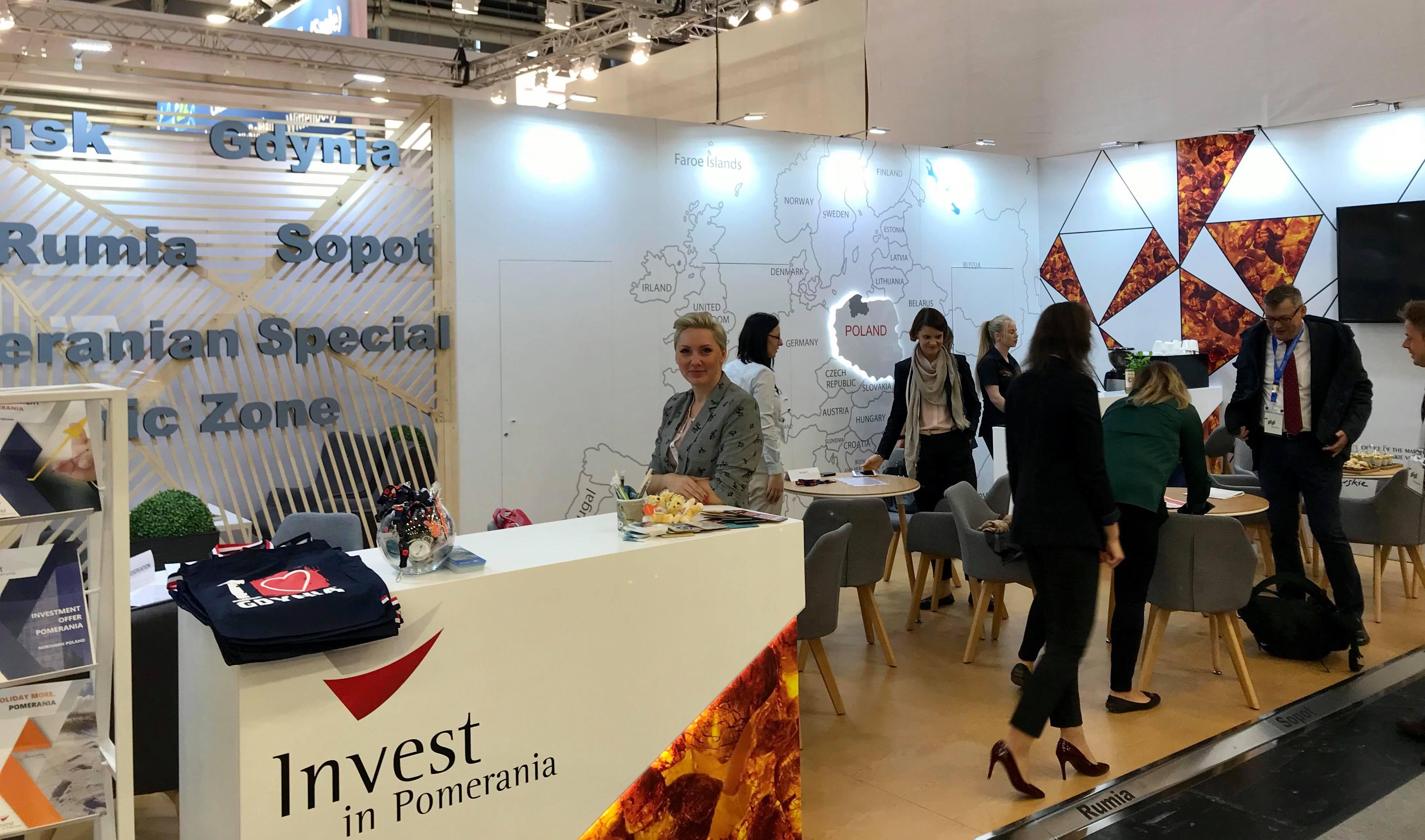 Stoisko Invest in Pomerania na targach w Monachium, fot. Maja Studzińska
