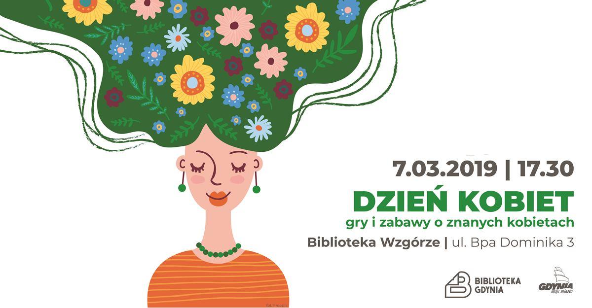 plakat dzień kobiet w bibliotece