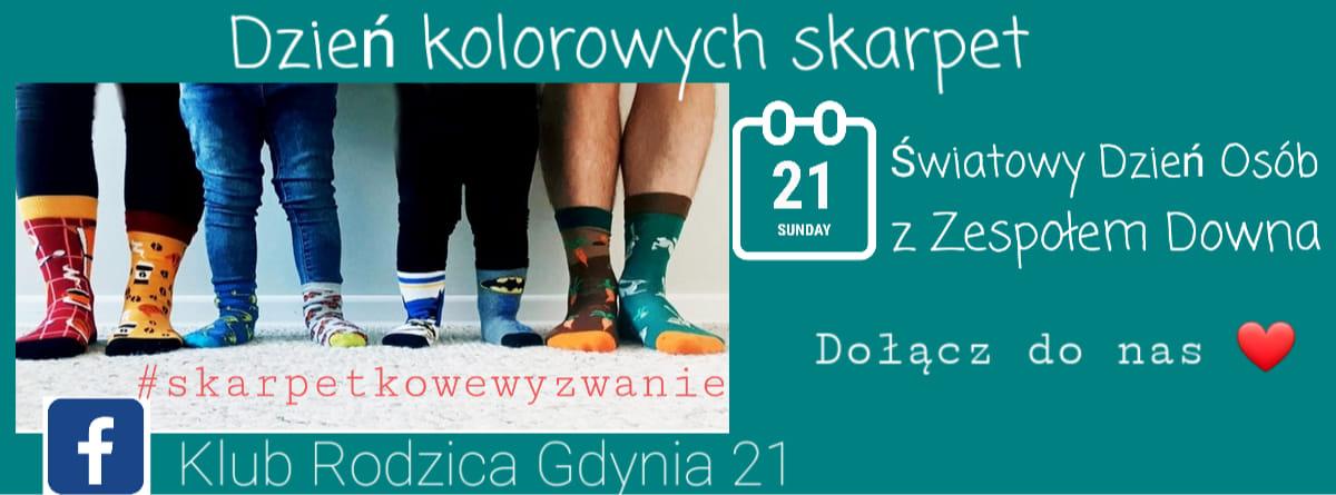 Wydarzenie Dzień Kolorowych Skarpet, źródło: Klub Rodzica Gdynia 21