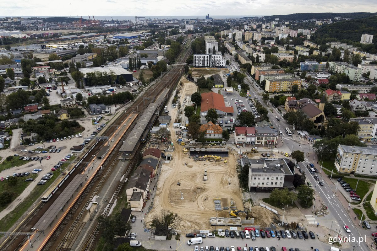 Tak wyglądał postęp prac na budowie węzła Chylonia, fot. Marcin Mielewski