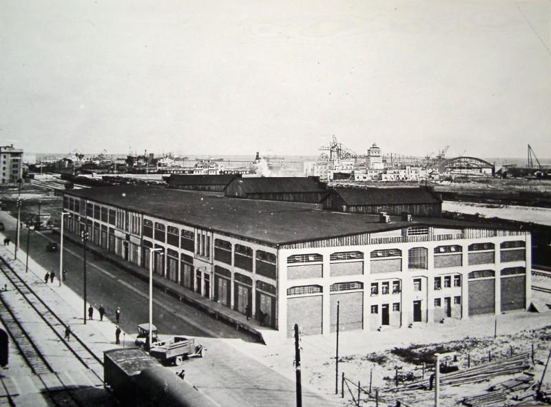 Magazyn nr 5 w trakcie budowy, lata 30. XX wieku, fot.archiwum