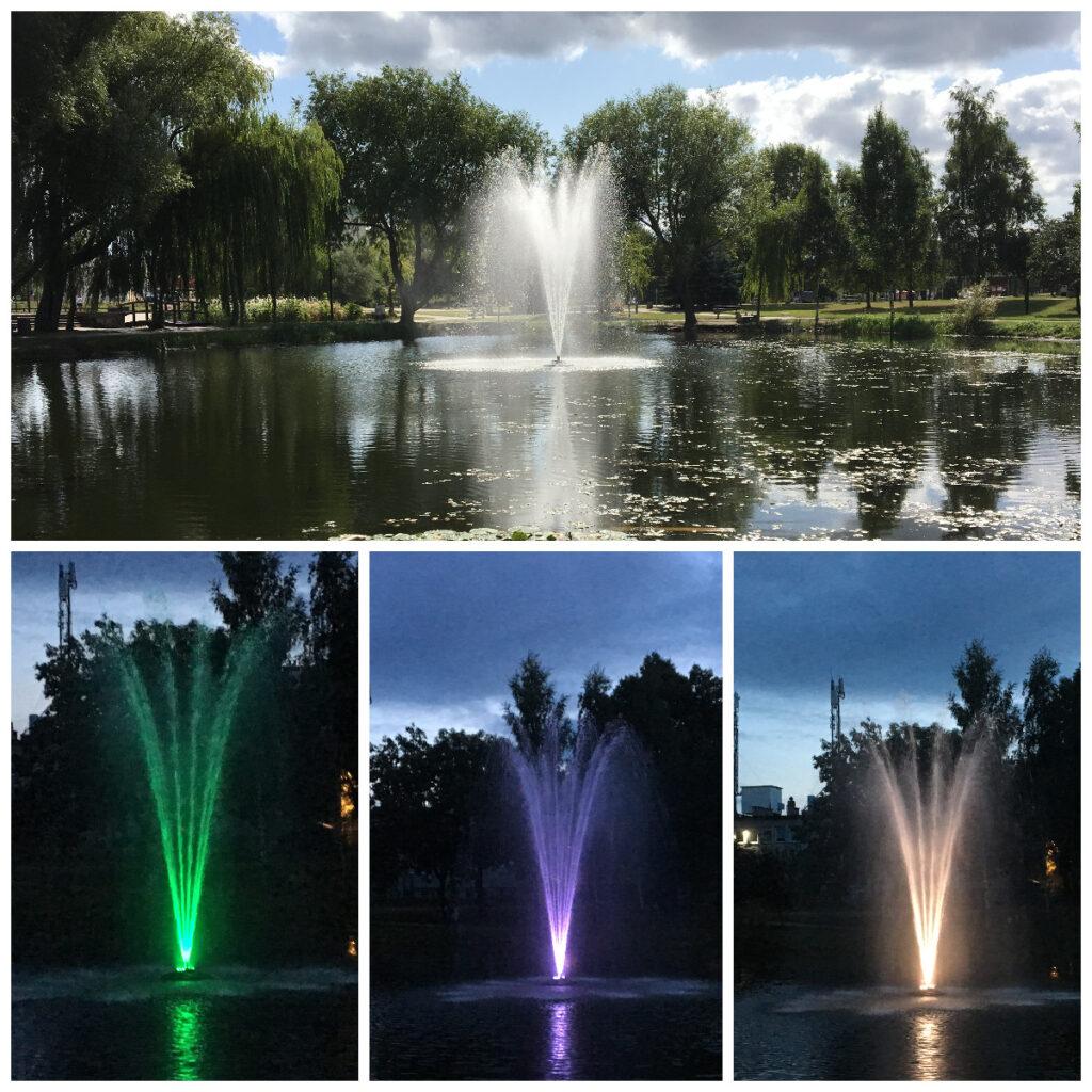 Pływająca fontanna na skwerze im. Ireny Kwiatkowskiej na Obłużu // fot.ZDiZ