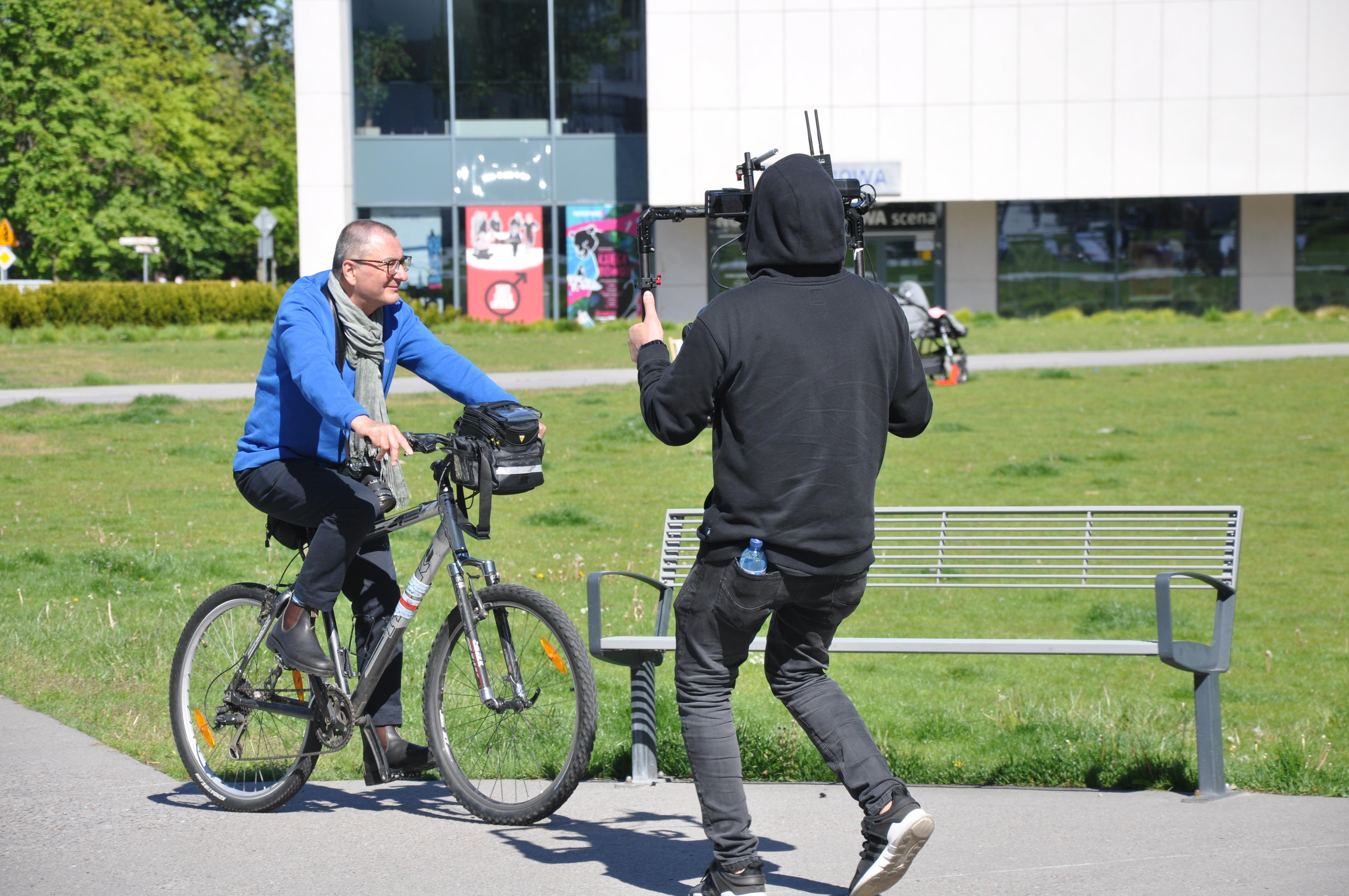 Kamera, akcja! Jerzy Majewski na Placu Grunwaldzkim, fot. Magda Śliżewska