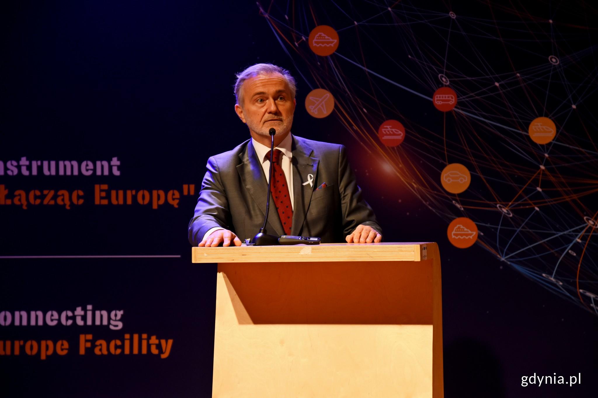 Konferencję otworzył Wojciech Szczurek, prezydent Gdyni // fot. Paweł Kukla