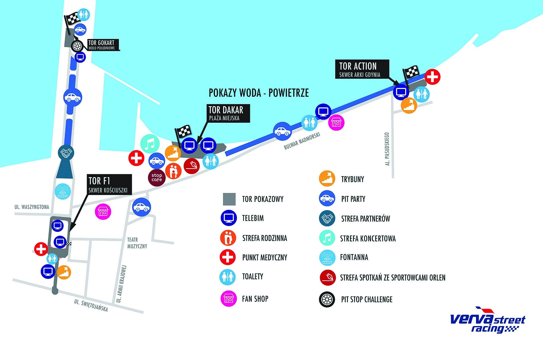 Schemat imprezy VERVA Street Racing