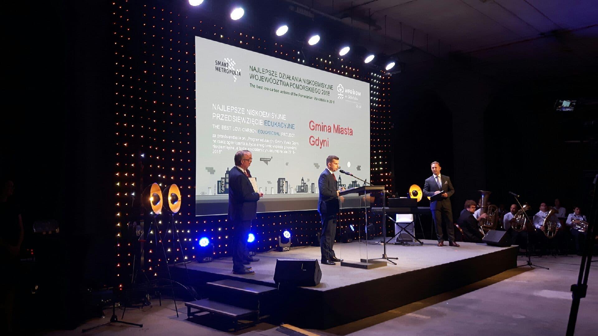 Nagrodę odebrał Sebastian Jędrzejewski, radny miasta Gdyni