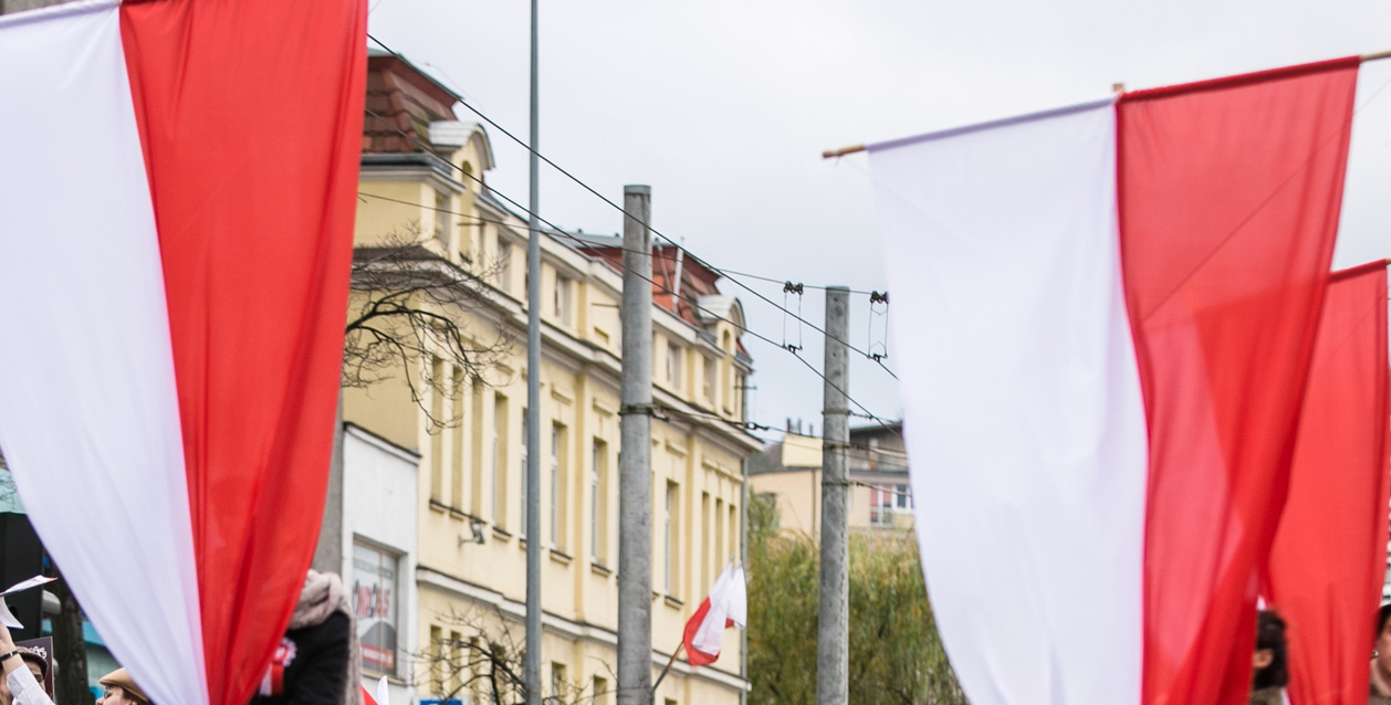 Flagi na 10 lutego, fot. Karol Stańczak