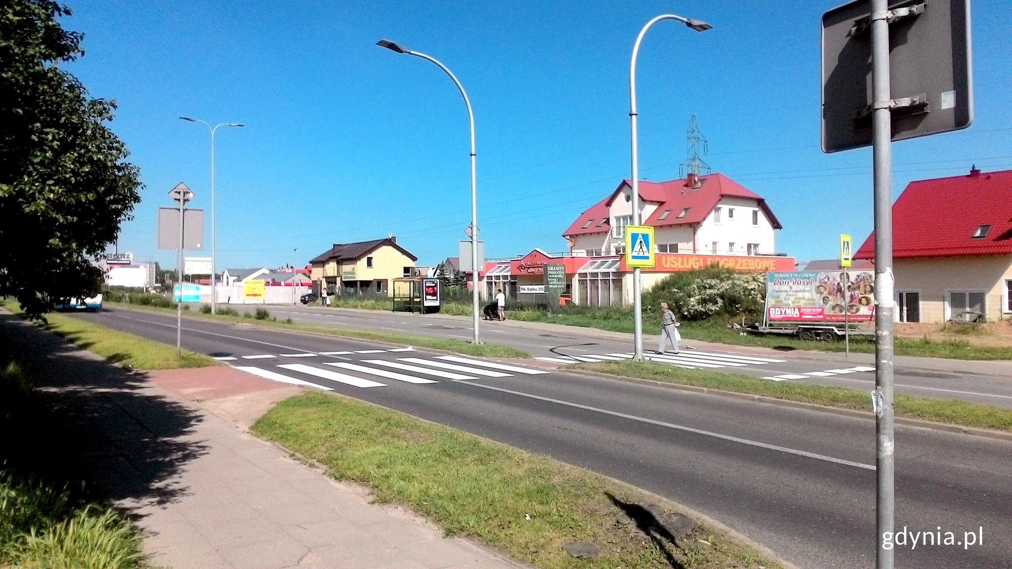 Przejście dla pieszych przez ul. Dąbka, fot. ZDiZ Gdynia