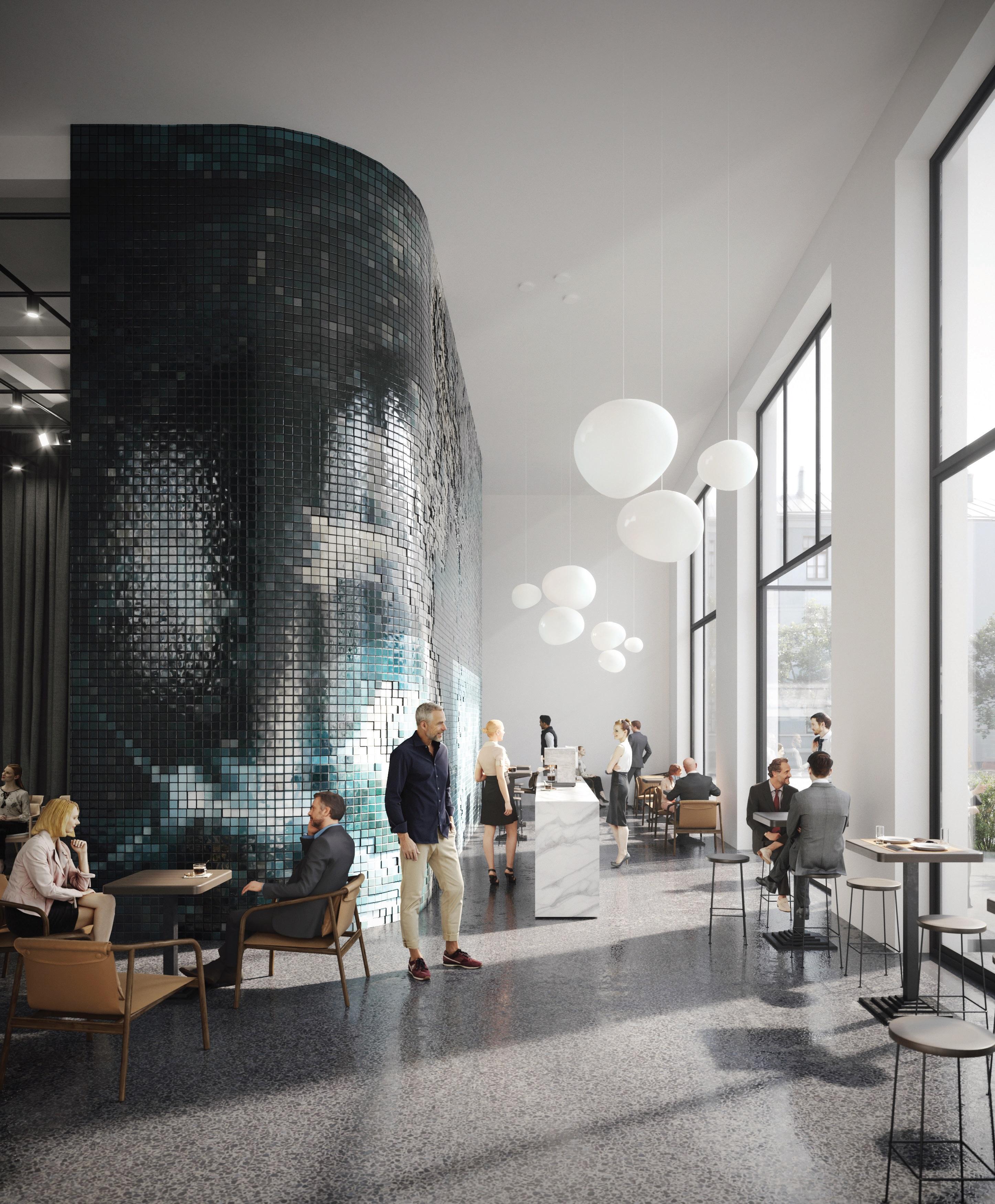 Sama kawiarnia zyska większy dostęp do światła (to za sprawą powiększenia okien) i zupełnie nowy wystrój, fot. materiały prasowe pracowni WXCA Sp. z o.o.