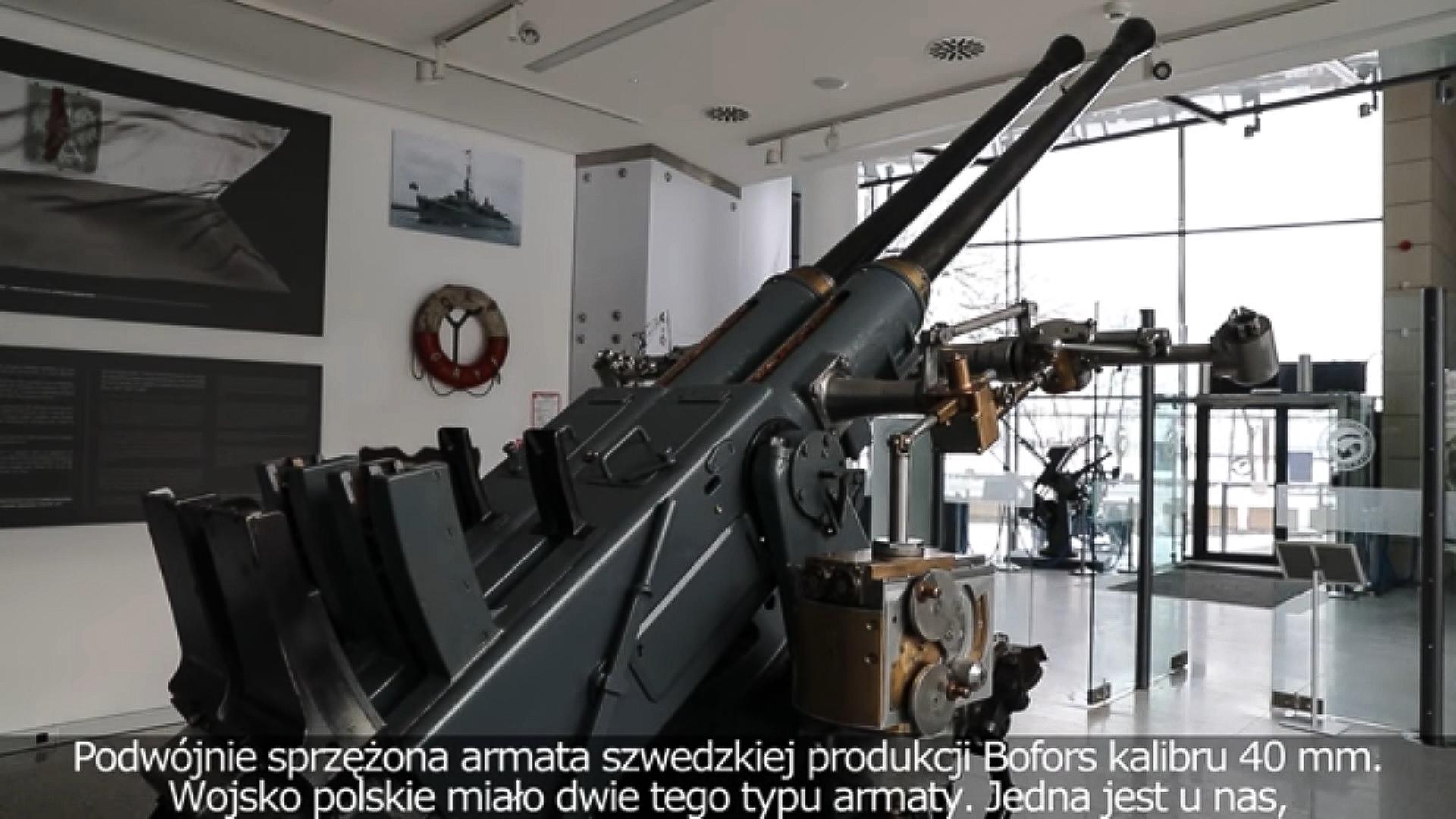Armata Boforsa, źródło: Muzeum Marynarki Wojennej