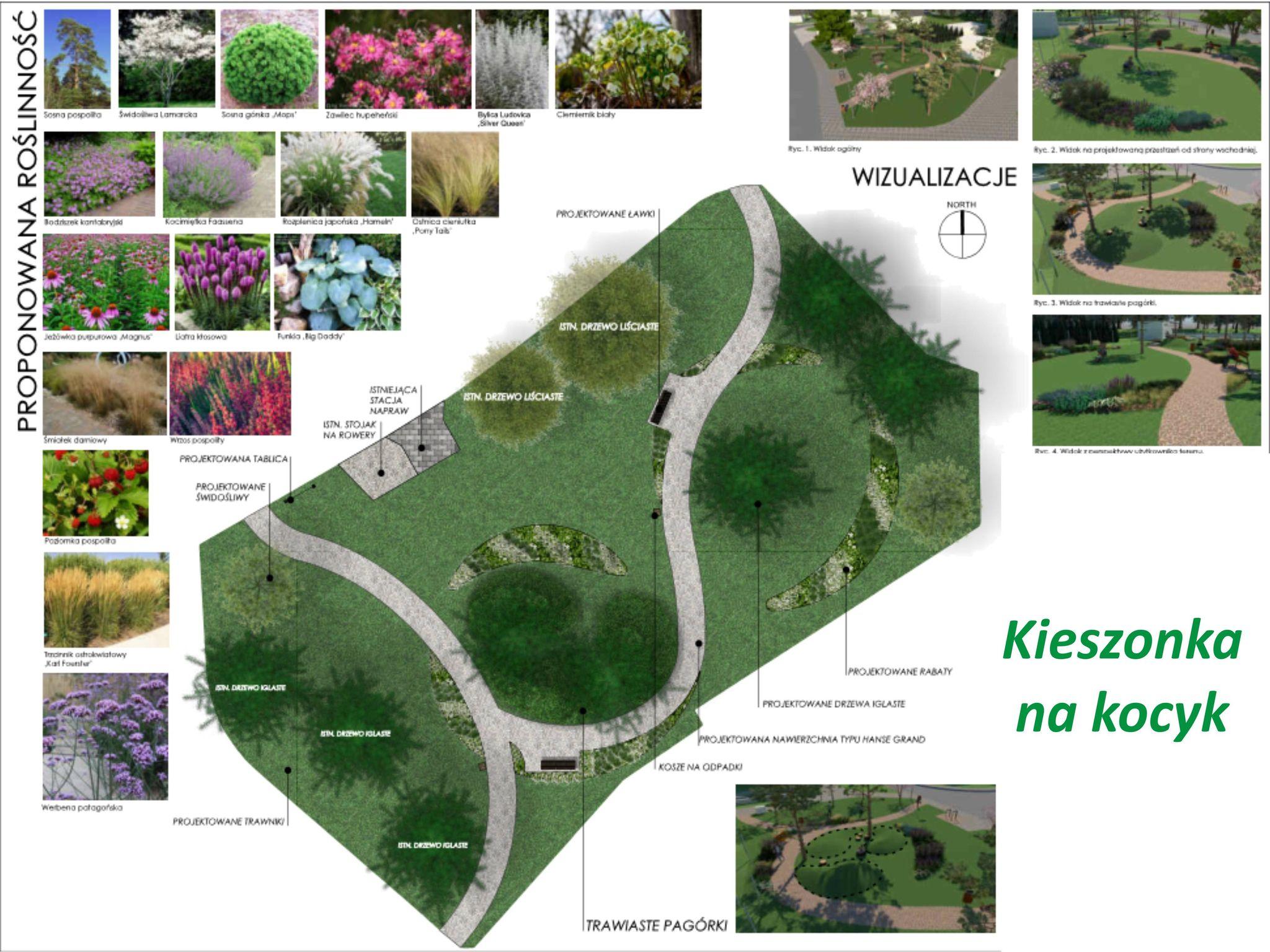 Projekt parku Kieszonka na Kocyk, mat. Wydział Ogrodnika Miasta