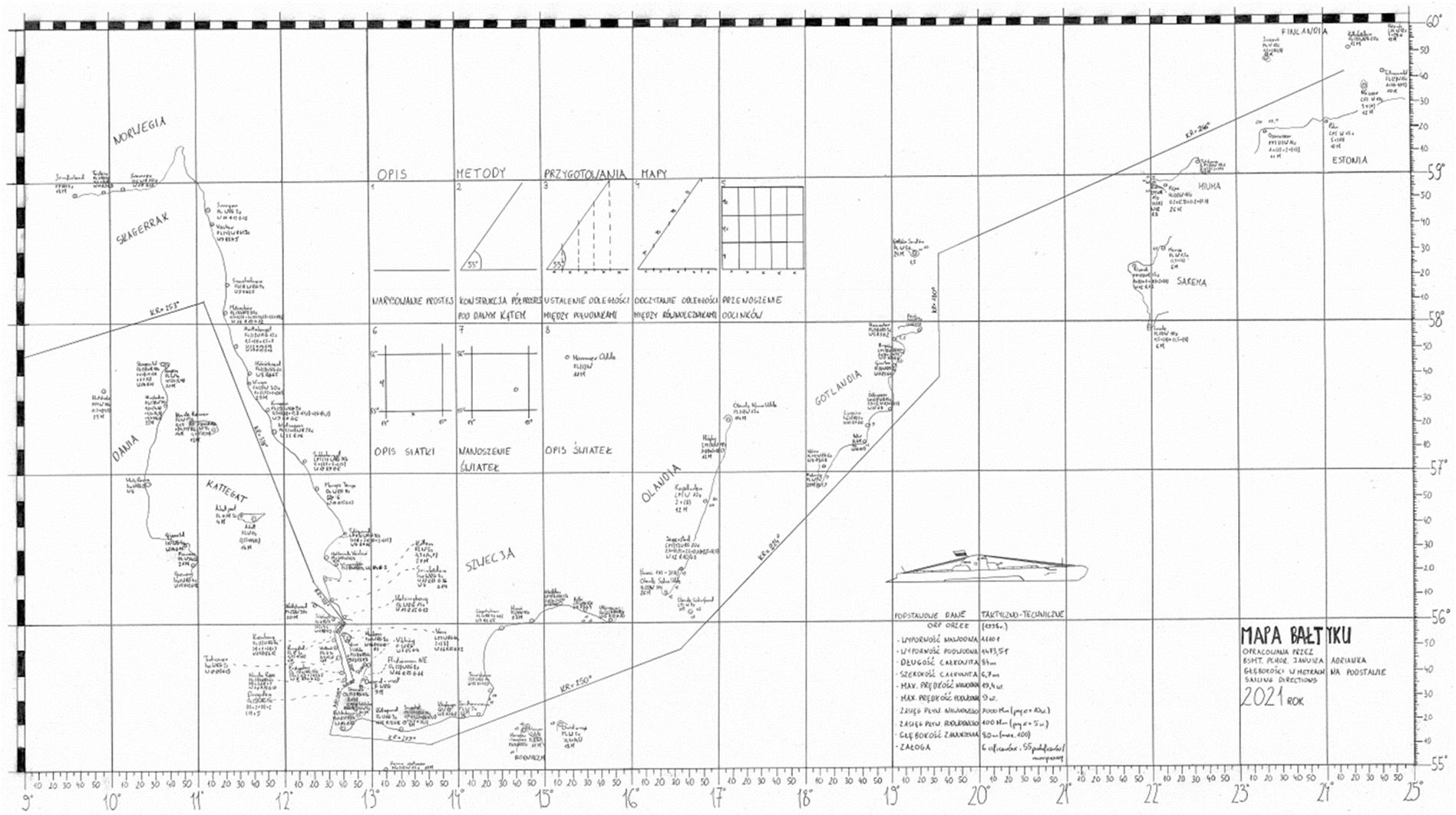 """Janusz Adrianek (na zdjęciu) odtworzył mapy, którymi posługiwała się załoga legendarnego ORP """"Orzeł"""", fot. mat. prasowe Akademii Marynarki Wojennej w Gdyni"""