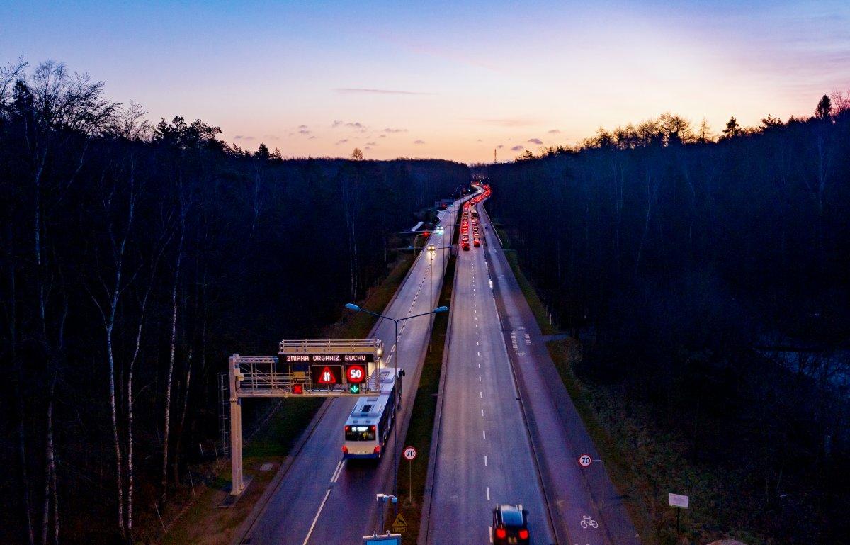 Kontrapas autobusowy w Gdyni, fot. Tomasz Kozieł / ZDiZ
