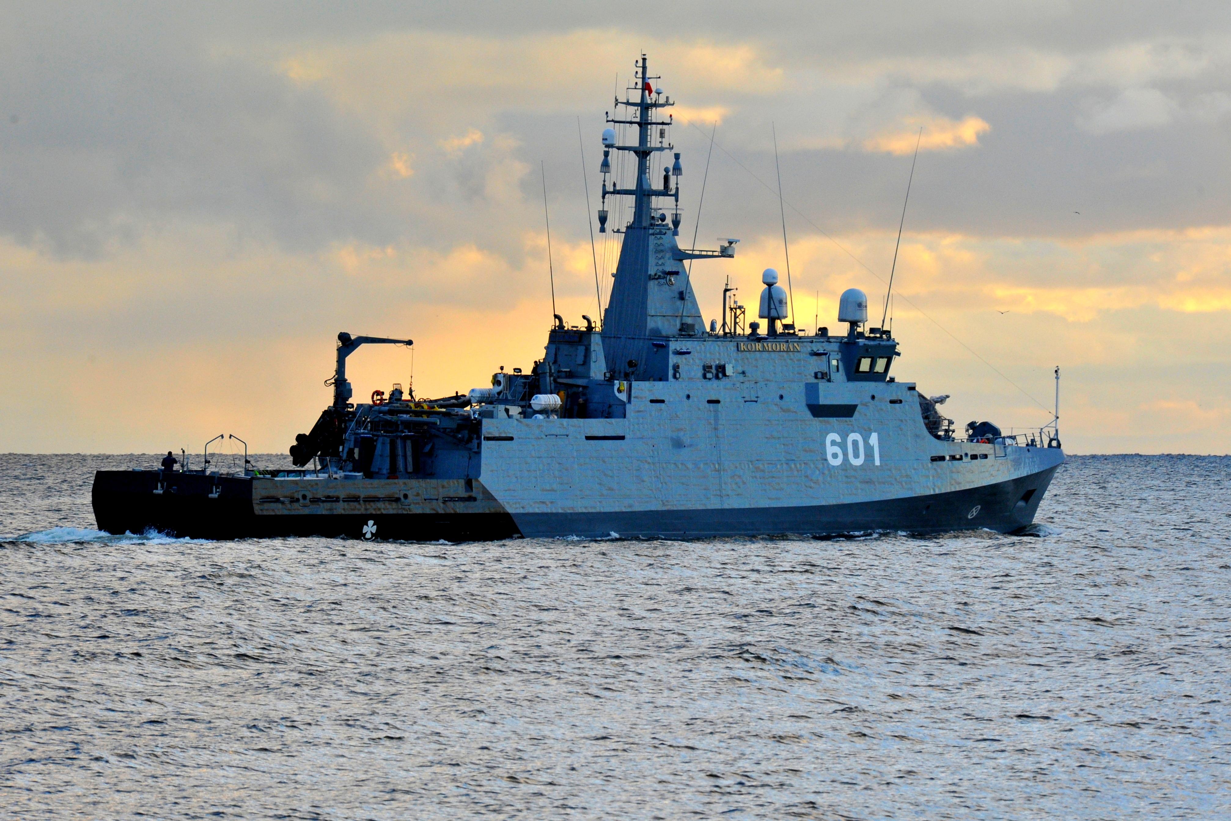 Niszczyciel min Kormoran - jeden ze sztandarowych projektów CTM, fot. mat. prasowe CTM