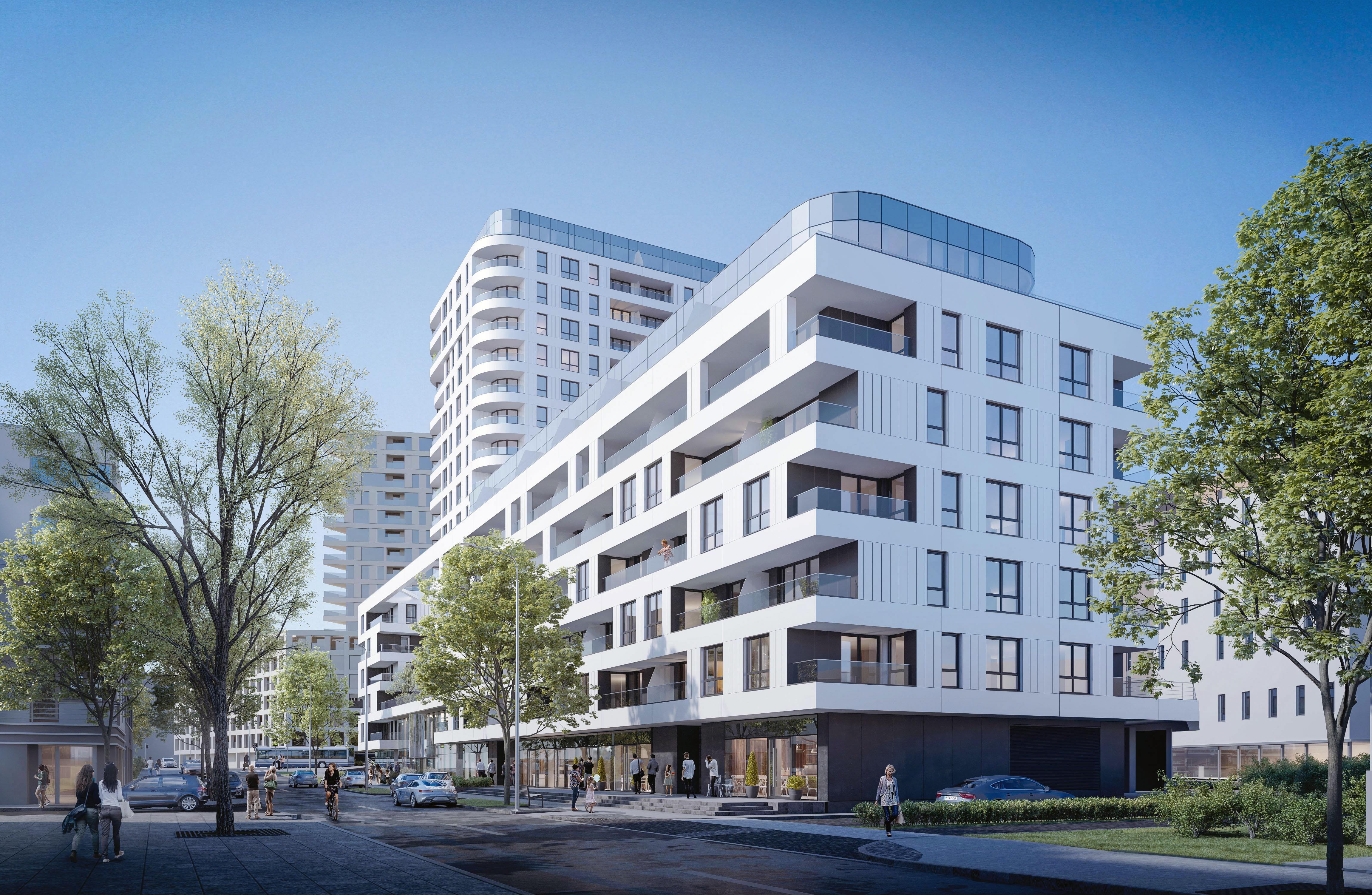 Drugą inwestycję realizuję firma PB Górski. Będzie to budynek mieszkalny, z częścią usługową na parterze, fot. materiały prasowe