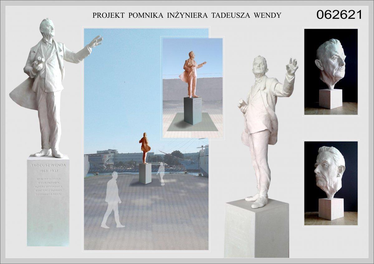 Projekt pomnika Tadeusza Wendy na podstawie zwycięskiego projektu toruńskiego rzeźbiarza Macieja Jagodzińskiego-Jagenmeera, fot. MMG