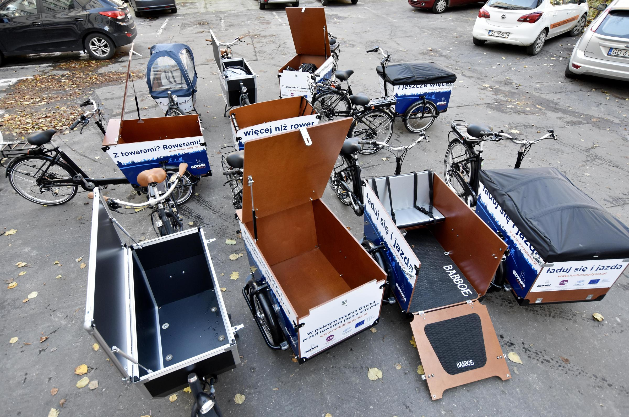 Różne przestrzenie bagażowe rowerów, fot. Lechosław Dzierżak