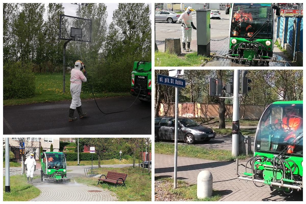 Nowy łącznik rowerowy sąsiaduje z parkiem kieszonkowym na skrzyżowaniu ulic Miętowa i Tymiankowa // ZDiZ