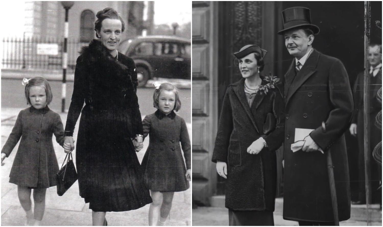 Cecylia Raczyńska z córkami oraz Cecylia i Edward Raczyńscy. Źródło: Muzeum Marynarki Wojennej