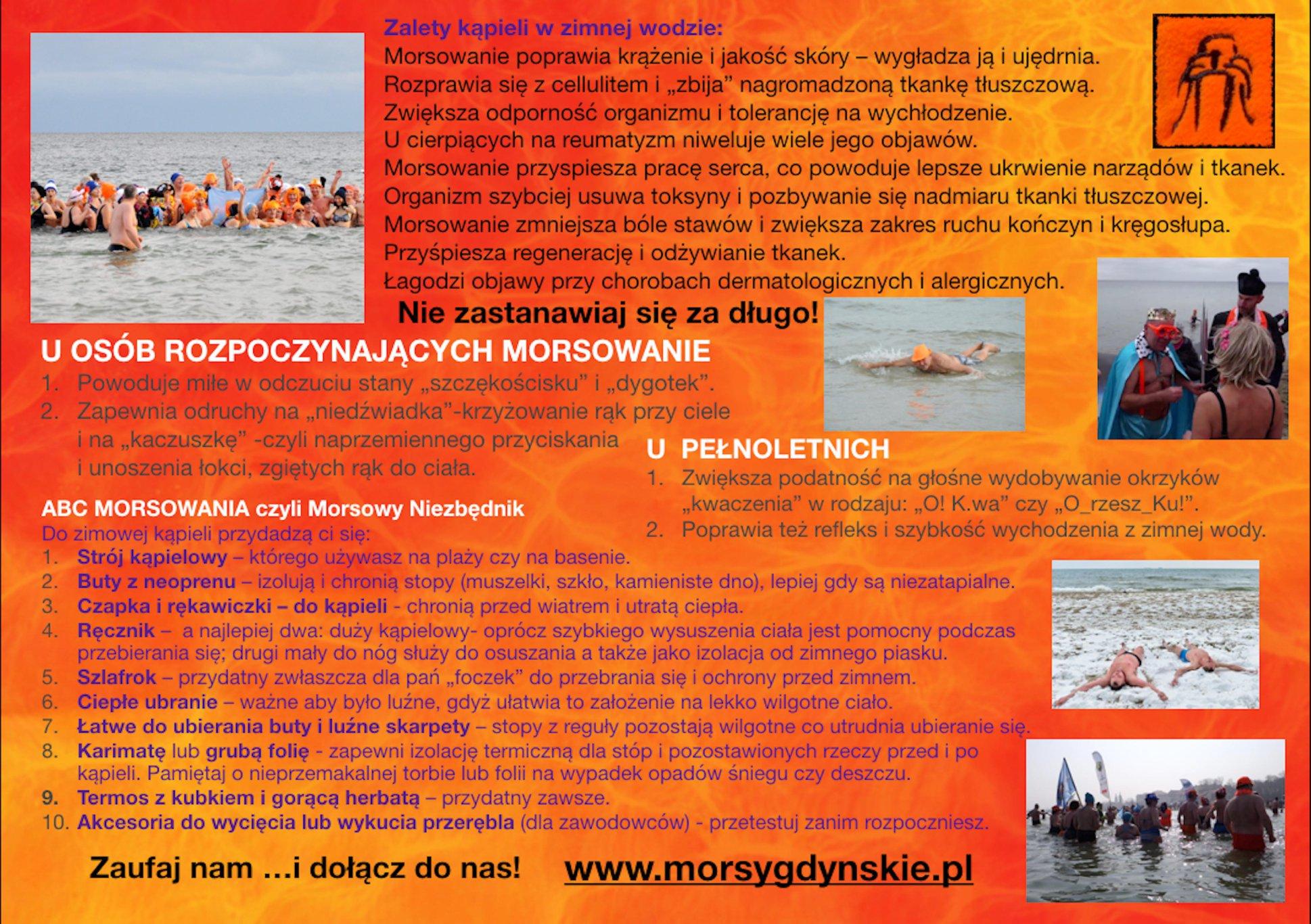 Podstawowe informacje o morsowaniu // https://www.facebook.com/StowarzyszenieMorsyGdynskie