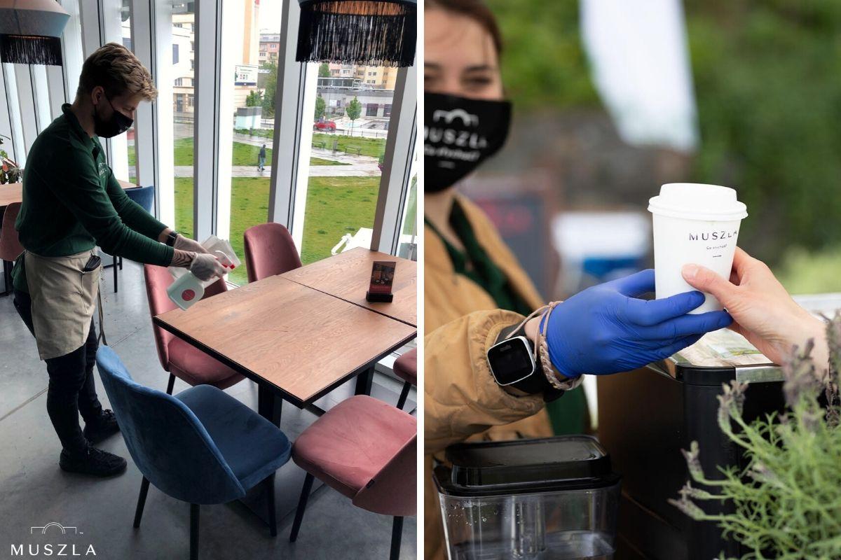 W poniedziałek Restauracja Muszla Gdynia zaprosiła mieszkańców na darmową kawę, tak żeby wspólnie wznieść symboliczny toast z nadzieją, że już teraz będzie dobrze. / fot. Muszla Gdynia
