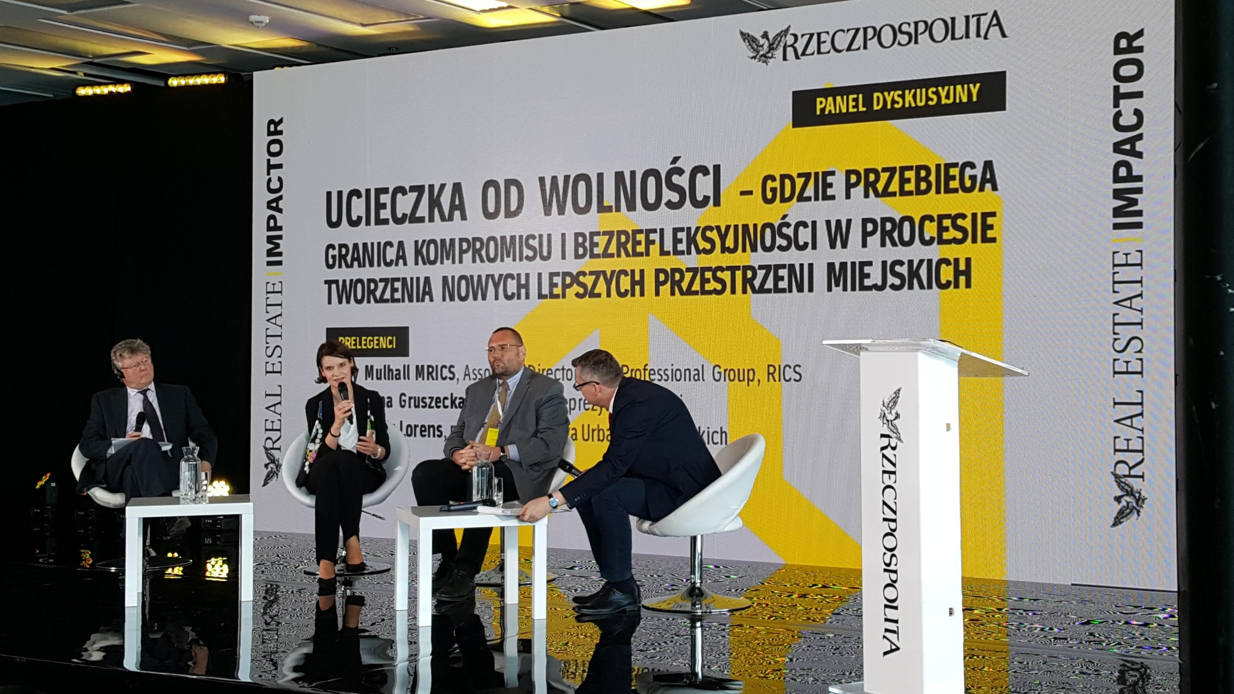 Wiceprezydent Gdyni, Katarzyna Gruszecka-Spychała podczas panelu dyskusyjnego, fot. Dorota Nelke
