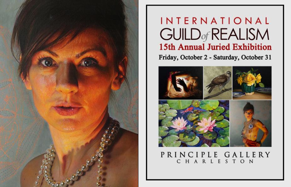 """Po lewej: obraz Anny Wypych - """"Double freedom"""". Po prawej: grafika promująca 15. wystawę Międzynarodowej Gildii Realizmu // fot. materiały prasowe IGOR"""