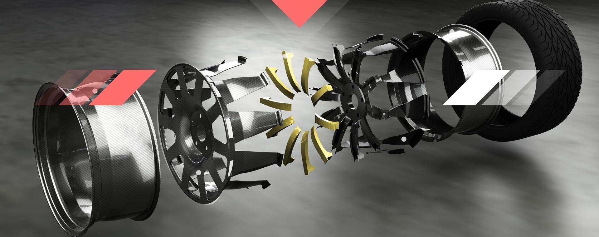 Fibratech opracowało hybrydową, kompozytowo-metalową obręcz samochodową. Jest ona o 15 proc. lżejsza i o 30 proc. sztywniejsza niż zwykłe felgi aluminiowe. Także jej cena ma być konkurencyjna, bo zbliżona do tych dostępnych obecnie na rynku. fot. www.facebook.com/pg/fibratechwheel