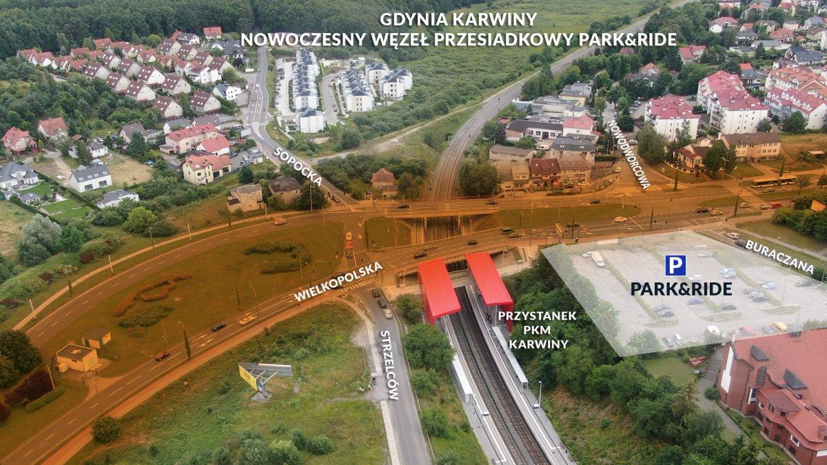Ten fragment drogowego układu Karwin zmieni się nie do poznania dzięki budowie węzła, fot. Michał Puszczewicz