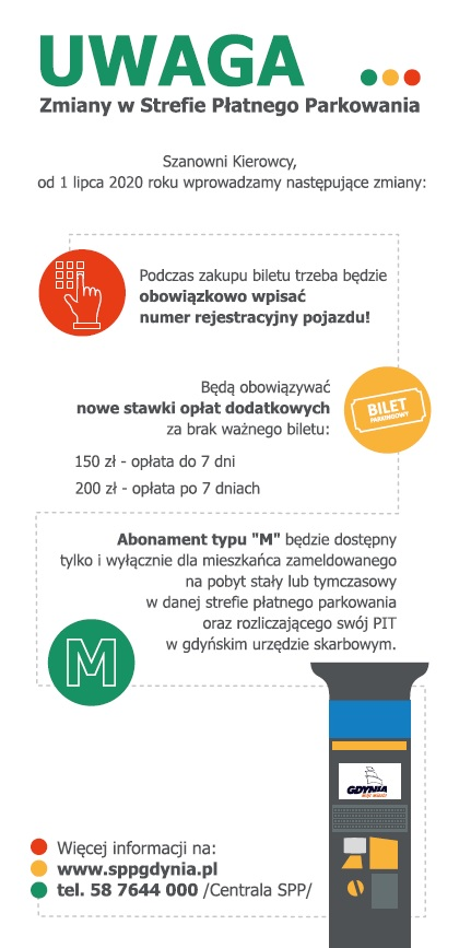Ulotka o zmianach w Strefie Płatnego Parkowania // mat.pras.