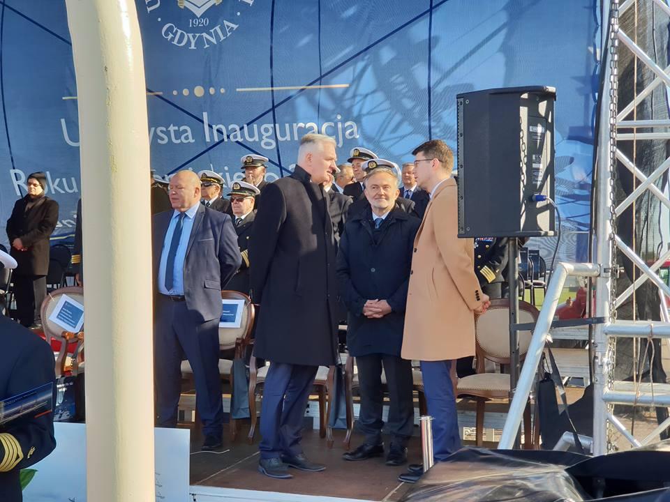 Prezydent Gdyni Wojciech Szczurek podczas inauguracji roku na Uniwersytecie Morskim, fot. gdynia.pl
