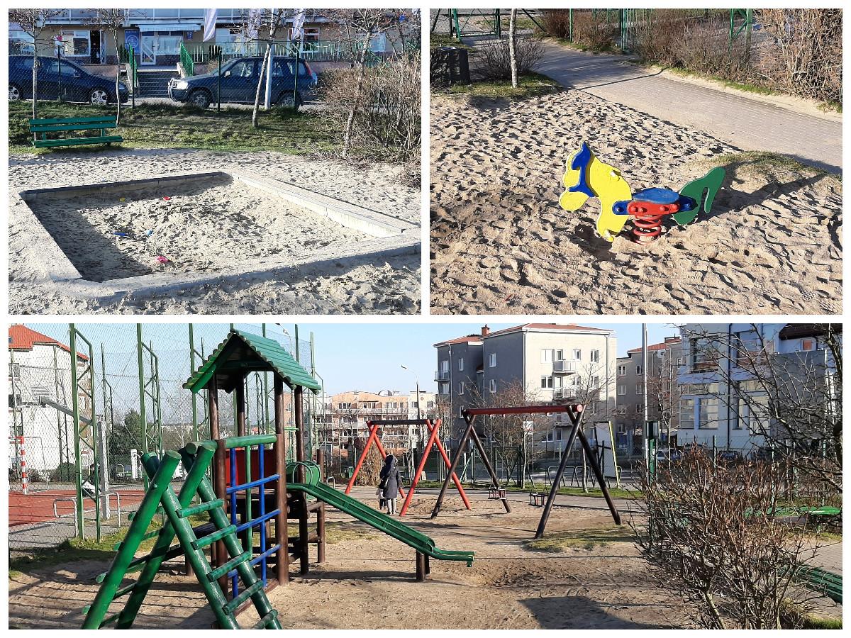 Tak obecnie wyglada przestrzeń placu zabaw przy ulicy Gryfa Pomorskiego// fot. Piotr Szpajer