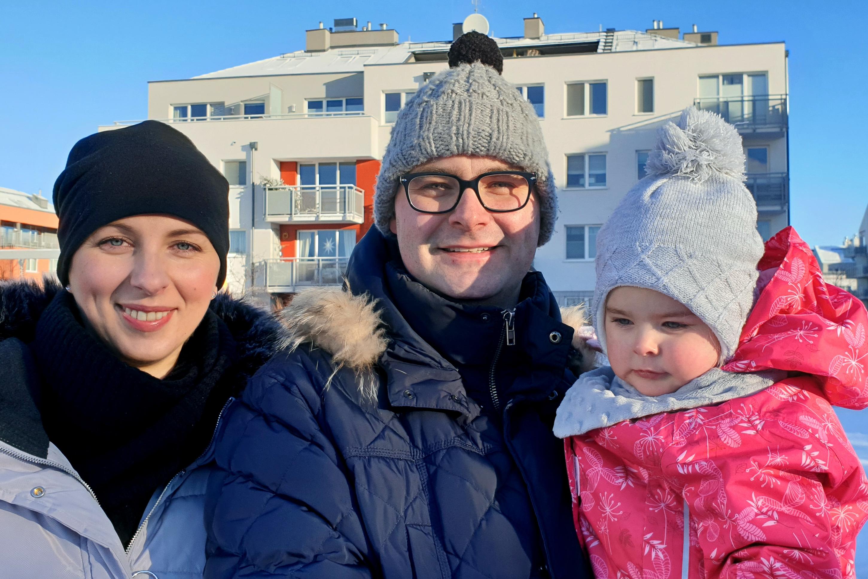 Od lewej: Dorota, Maciej i Anna Skwierz - gdynianie z wyboru, tu mieszkają i pracują, fot. Marcin Mielewski