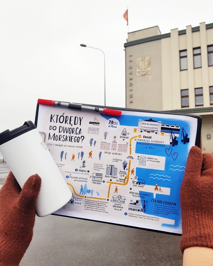 Którędy do dworca? Mapa na rodzinne spacery od MMG i MEG. Mat. prasowe.