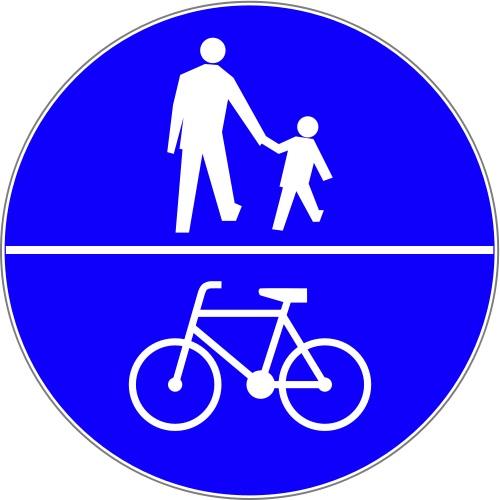 znak pionowy ciąd pieszo-rowerowy