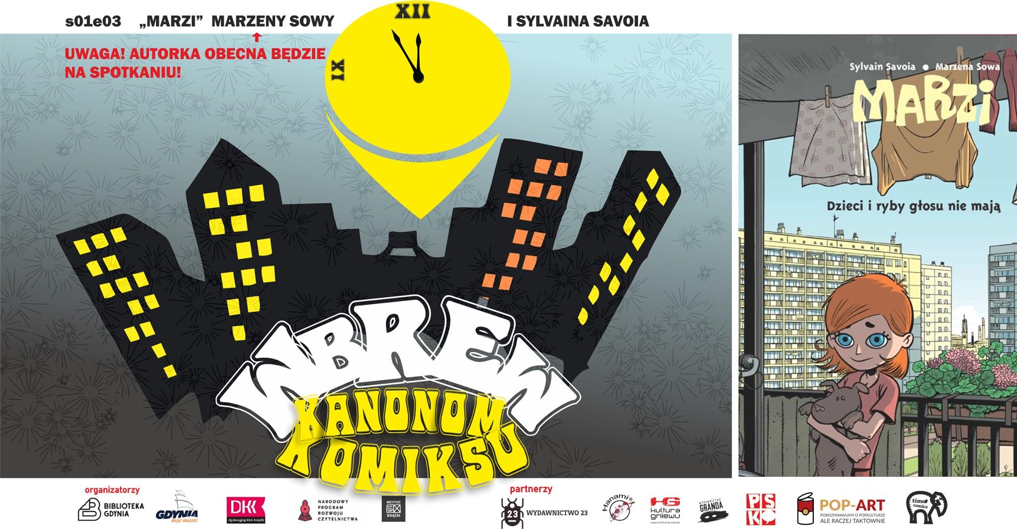 """Komiks """"Marzi"""" – spotkanie z Marzeną Sową, zrzut ekranu"""