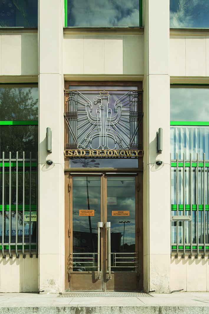 Drzwi główne zrekonstruowane na podstawie fotografii archiwalnych