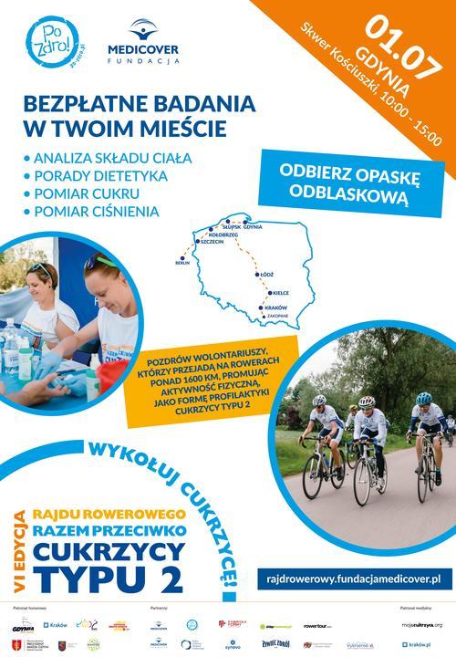 """Zakończenie akcji  """"Razem przeciwko cukrzycy typu 2"""" będzie miało miejsce na skwerze Kościuszki, fot. materiały prasowe"""