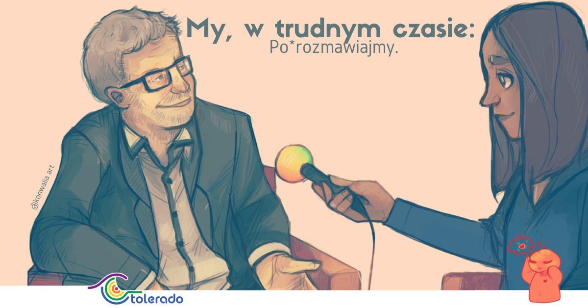 """""""My, w trudnym czasie: Po*rozmawiajmy"""". Grafika: Ewelina Nierzwicka"""